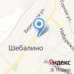 Камуфляжная Каптерка на карте Шебалино