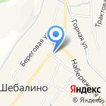 Управление пенсионного фонда РФ в Шебалинском районе на карте Шебалино