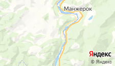 Отели города Бирюзовая Катунь на карте