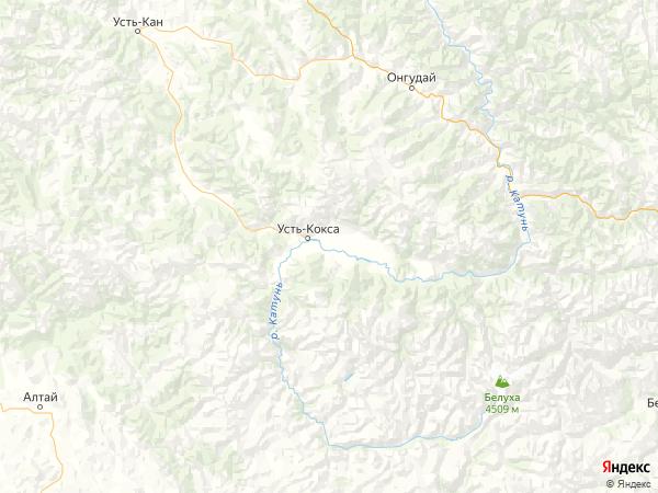посёлок Октябрьское на карте