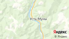 Гостиницы города Усть-Муны на карте