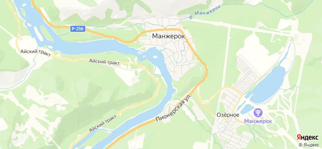 Дома Манжерока под-ключ - объекты на карте