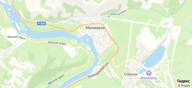 Отдых в Манжероке с детьми - объекты на карте