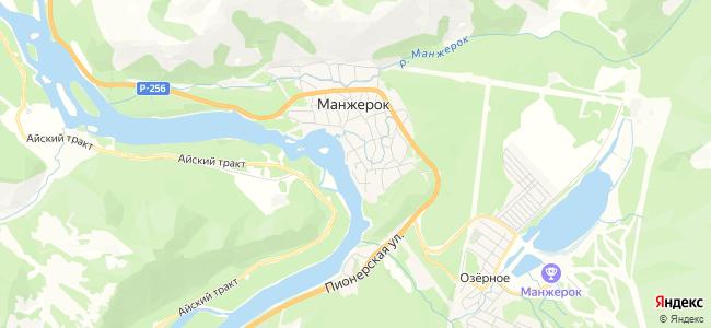 Манжерок - объекты на карте