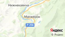 Отели города Манжерок на карте