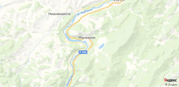 Манжерок на карте