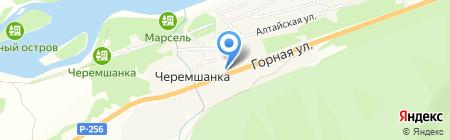 Заря на карте Черемшанки