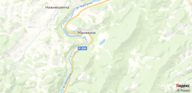 Озерное на карте
