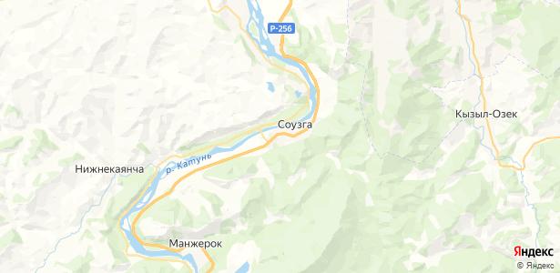 Соузга на карте