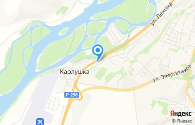 Местоположение на карте пункта техосмотра по адресу Респ Алтай, с Майма, ул 50 лет Победы, д 1А