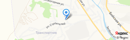 Гостиница на карте Горно-Алтайска