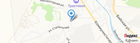 Управление Федеральной службы государственной регистрации на карте Горно-Алтайска
