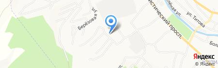 Рыжий пёс на карте Горно-Алтайска