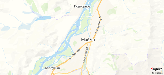 Гостиницы Маймы - объекты на карте