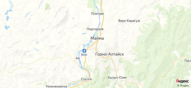 Хостелы Горно-Алтайска недорого - объекты на карте