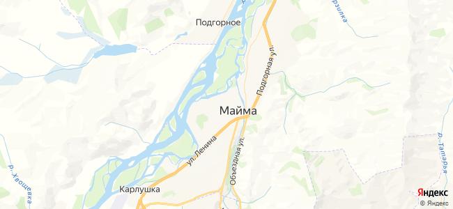 Майма - объекты на карте