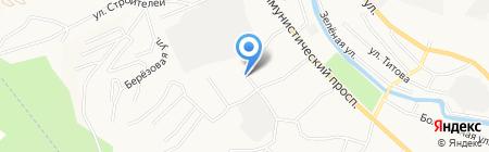 Дорожник на карте Горно-Алтайска