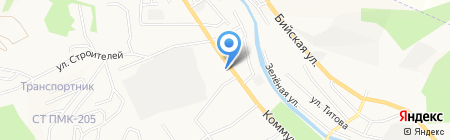 Едоша на карте Горно-Алтайска