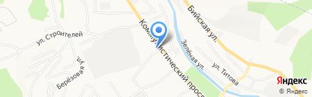 Подгорный на карте Горно-Алтайска