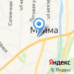 Магазин косметики и парфюмерии на карте Маймы