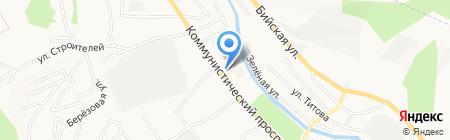 Мир Шин на карте Горно-Алтайска