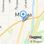 Киоск по продаже газет и журналов на карте Маймы