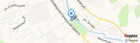 Крепёж на карте Горно-Алтайска