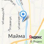 Отделение ГИБДД отдела МВД России по Майминскому району Республики Алтай на карте Маймы