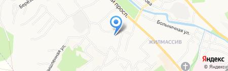 Валентина на карте Горно-Алтайска