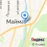 Муниципальный отдел полиции Майминского района на карте Маймы