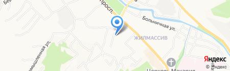 Универсал на карте Горно-Алтайска