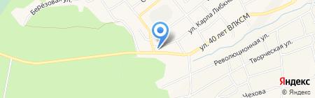 Шиномонтажная мастерская на ул. 40 лет ВЛКСМ на карте Гурьевска