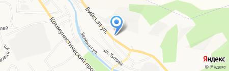 АЗС Алтайтранснефть на карте Горно-Алтайска