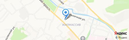 Почтовое отделение №2 на карте Горно-Алтайска