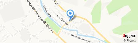 Мустанг на карте Горно-Алтайска