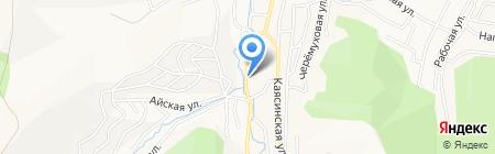 Ягодка на карте Горно-Алтайска