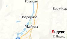 Отели города Майма на карте