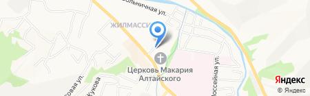 Аква на карте Горно-Алтайска