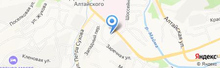 Кадетская школа №4 на карте Горно-Алтайска