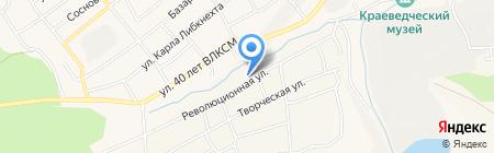 Сибирь на карте Гурьевска