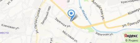 Автомотив на карте Горно-Алтайска
