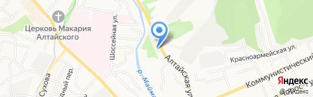 Масленка на карте Горно-Алтайска