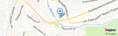 Созвездие на карте Горно-Алтайска