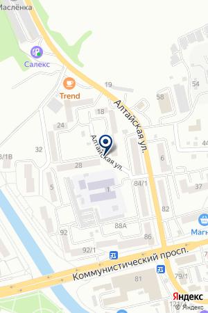 АЗС ТУВАЧИНОВ Э.С. на карте Горно-Алтайска