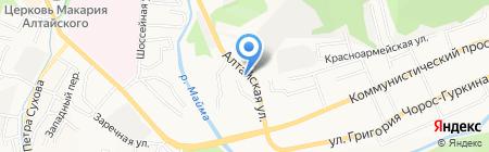 Домик у дороги на карте Горно-Алтайска