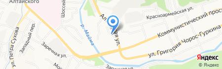 Киоск по продаже фастфудной продукции на карте Горно-Алтайска