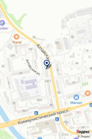 МАГАЗИН АВТОЗАПЧАСТЕЙ ТЕХНОВОЛГА на карте Горно-Алтайска