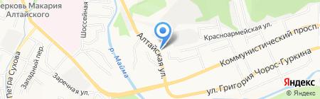 Автостоянка на карте Горно-Алтайска