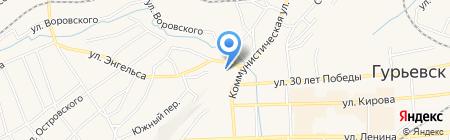 Городской дворец культуры на карте Гурьевска