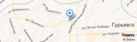 Родная Мебель на карте Гурьевска